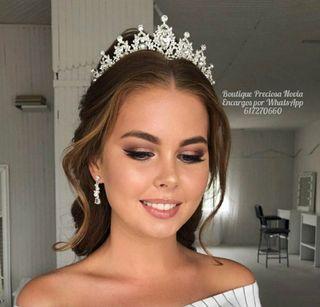Tiara de novia de cristal de alta calidad diadema