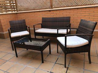 Conjunto Ratan Terraza Jardín