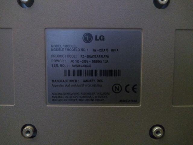 TV - LG RZ-20LA70