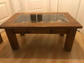 Mesa baja madera.