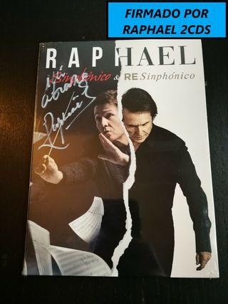 FIRMADO - RAPHAEL - SINPHONICO Y RESINPHONICO -2CD
