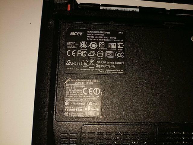 Portatil sin pantalla Acer Aspire One D150-0Bb