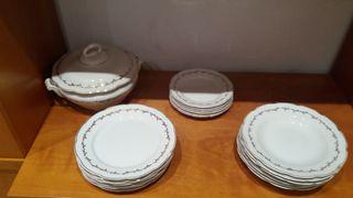 Vajilla de porcelana 18 piezas + sopera