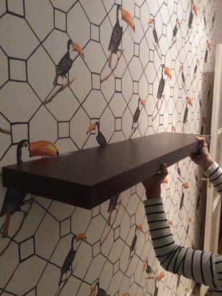 2 Estantes Ikea lack negro-marrón (110 x 26)
