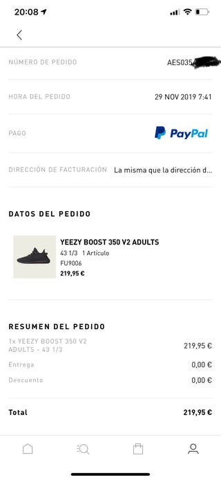 Yeezy Black 350 9.5 US