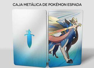 Caja metálica Pokemon Espada + poster Galar
