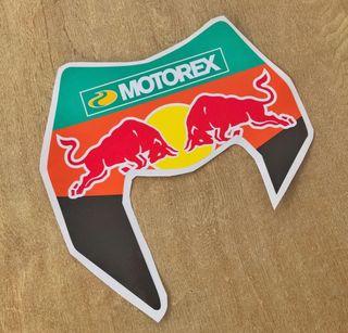 Vinilo adhesivo careta ktm Exc red Bull motorex