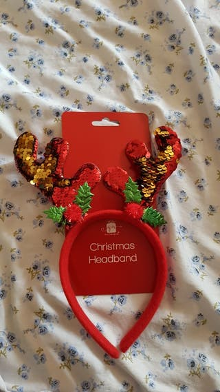 Christmas sequin headband