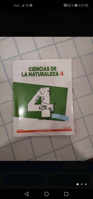 Libro ciencias de la naturaleza 4 de primaria
