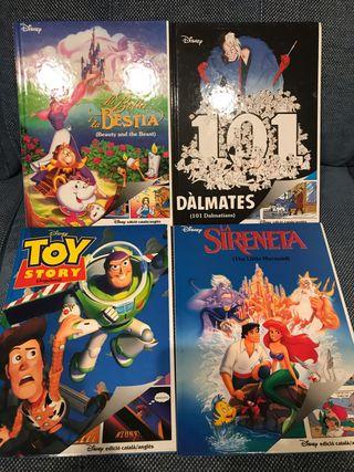 Libros/Cómics películas Disney inglés vs. Catalán