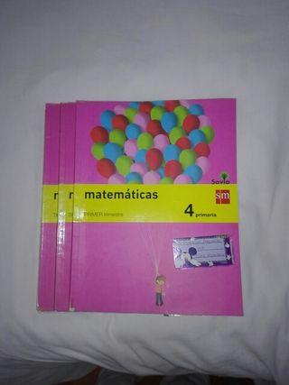 Libros de matemáticas de cuarto de primaria