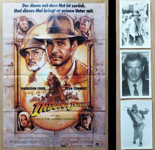 Póster original Indiana Jones 1989 - Alemania