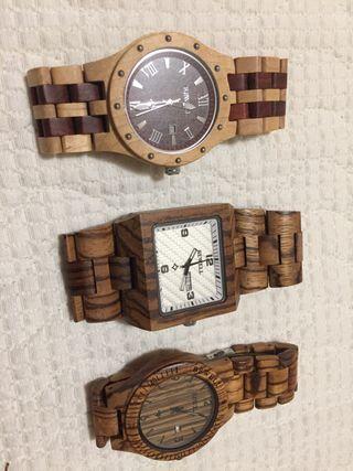 Relojes de madera Bewell