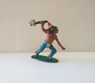 Figura antigua Indio goma Lafredo escaso muy buen