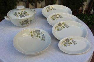 Juego de porcelana * Antiguo
