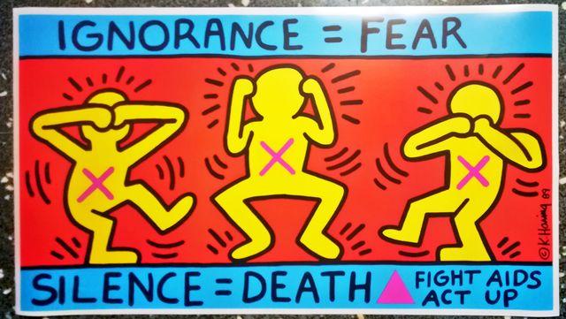 Keith Haring Ignorance = Fear-Silence = Death- 198