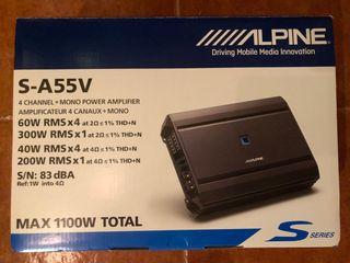 Amplificador Alpine S-A55V NUEVO coche