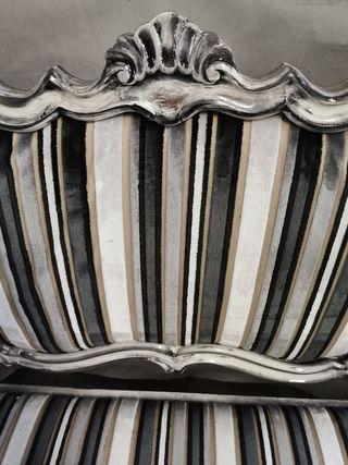 Banco sofá antiguo isabelino