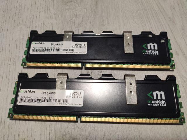 memorias RAM mushkin DDR3 2x4 gb