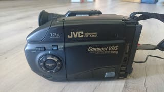 cámara video y bolsa