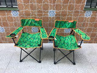 Pareja de silla plegable camping