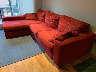Sofa de 4 plazas + chaise longe