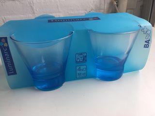 Vasos azules LUMINARC nuevos
