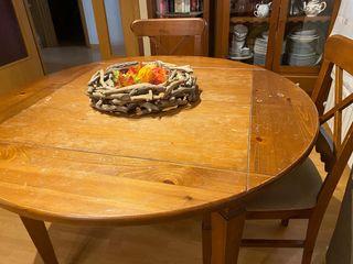 Comedor completo muebles rustico colonial madera