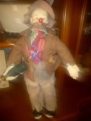 antiguo muñeco hombre vagabundo de cerámica