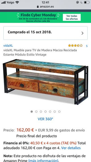 Mesa TV rústica Vidalxl 120 *45*35