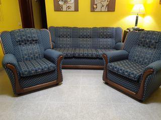 Tresillo , sofá tres plazas y dos sillones
