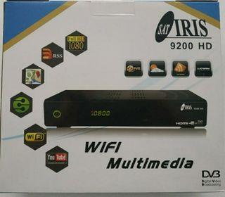 Receptor Satélite Iris 9200 HD con Wifi