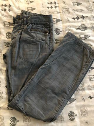 Pantalón cuadros hombre