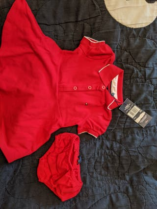 Vestido de bebé Tommy Hilfiger zapatos y calcetine