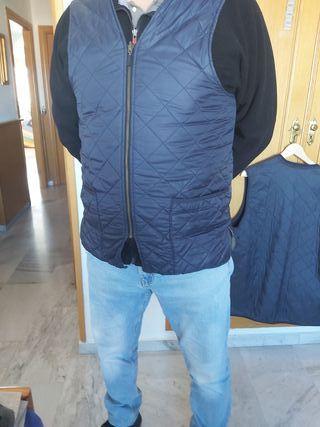 Chaleco Barbour hombre XL azul marino