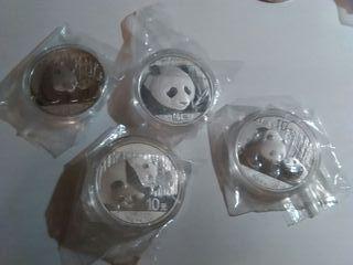monedas onza panda china 2011