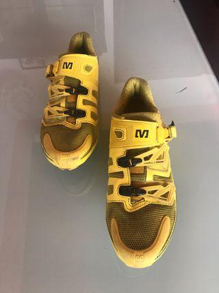 Zapatillas de carretera Mavic zxelliun amarillas.