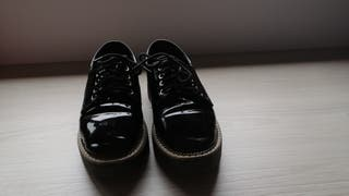 zapatos charol n38