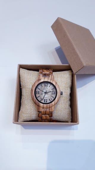 Reloj madera hombre mujer. Wooden watch.