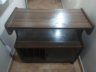 Mueble TV con puerta cristalera