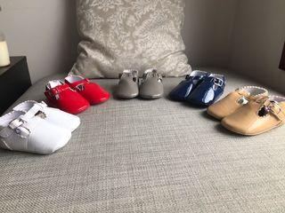 Lote Calzado Botas Zapatos Charol Bebe 20