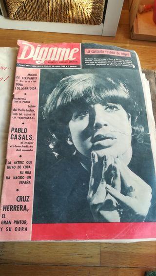 Revistas Dígame, años 65-66.