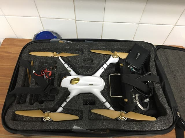 Drone Hubsan blanco