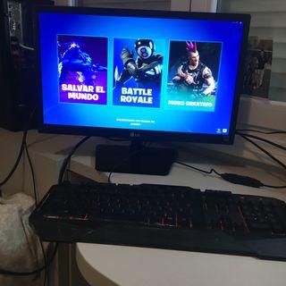 Ordenador gaming ,pantalla teclado raton