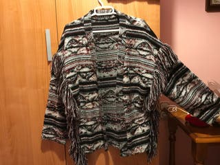 Chaqueta de lana de rayas de bershka