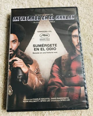 "Película DVD ""Blackkklansman"" nueva"