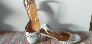 zapato sandalia blanco