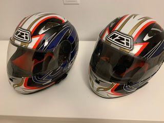 Pareja de Cascos NZI con intercomunicador Senna