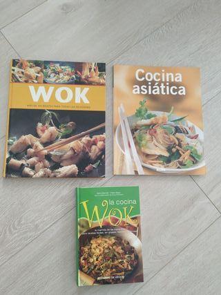 Libros cocina Asiática y Wok