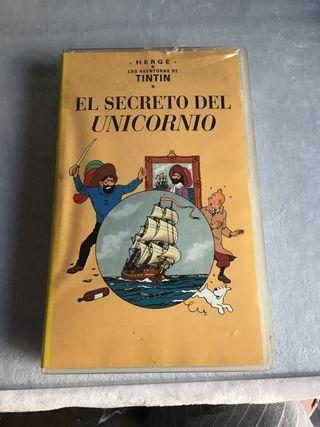 PELÍCULA VHS LAS AVENTURAS DE TINTÍN